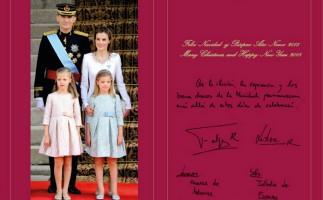 Los reyes eligen una imagen de la proclamación de Felipe VI para felicitar la Navidad
