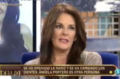 Ángela Portero muestra su nuevo rostro en Sálvame deluxe