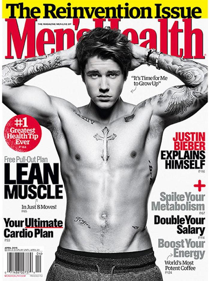 Justin Bieber luce cuerpazo en la portada de Men's Health