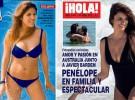 Duelo de portadas en bañador: Chabelita frente a Penélope Cruz