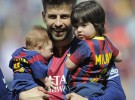 Shakira lleva a Milan y a Sasha a ver jugar a su padre, Gerard Piqué