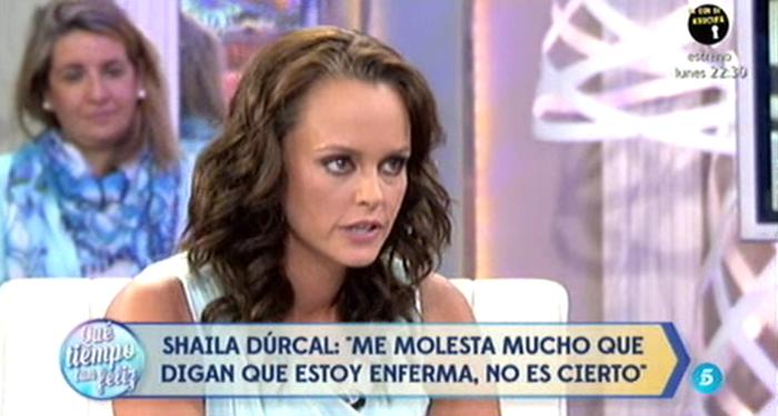 Shaila Dúrcal molesta con los que dicen que está enferma