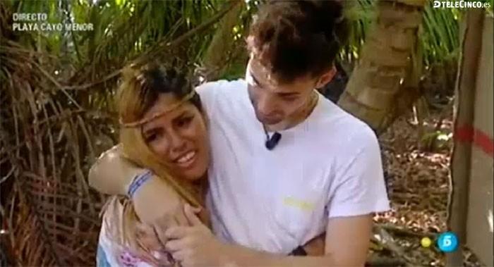Chabelita y su reacción ante la visita de su novio en Honduras