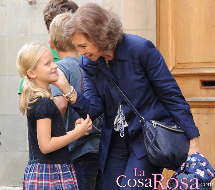 La reina Sofía y la infanta Elena acuden a la Primera Comunión de Irene Urdangarin