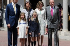Cristina de Borbón acudió a la celebración de la Primera Comunión de Leonor