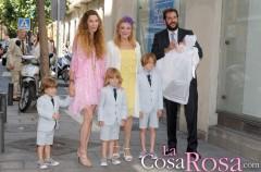 Borja Thyssen y Blanca Cuesta bautizan a su hija Kala con la presencia de Carmen Thyssen