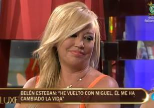 Belén Esteban asegura en Sálvame Deluxe que Miguel ha cambiado su vida