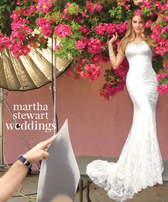 Sofía Vergara en la portada de Marta Stewart Weddings