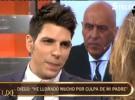Diego Matamoros se enfrenta a su padre en Sálvame Deluxe