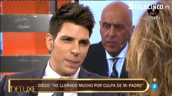Diego Matamoros, duro polígrafo Deluxe contra su padre