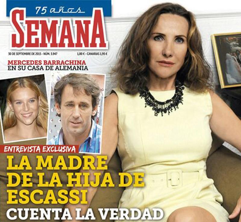 Mercedes Barrachina, madre de la hija de Escassi, habla para Semana