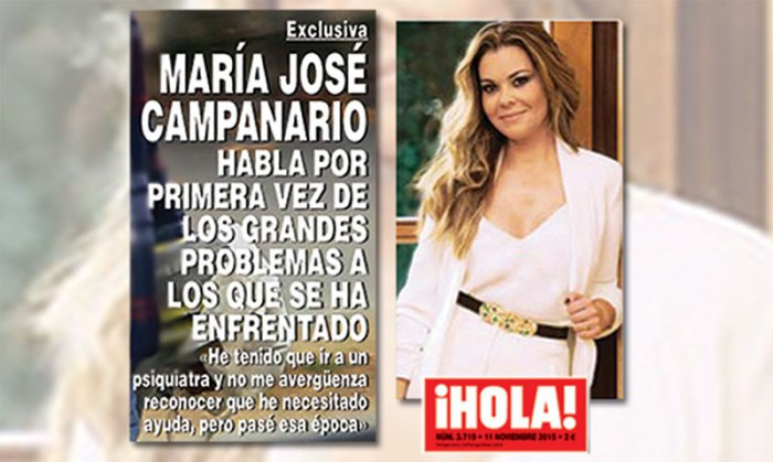María José Campanario revela que ha ido al psiquiatra