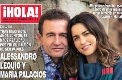 Alessandro Lequio y María Palacios esperan un hijo