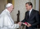 Leonardo DiCaprio se reúne con el Papa Francisco para hablar del cambio climático