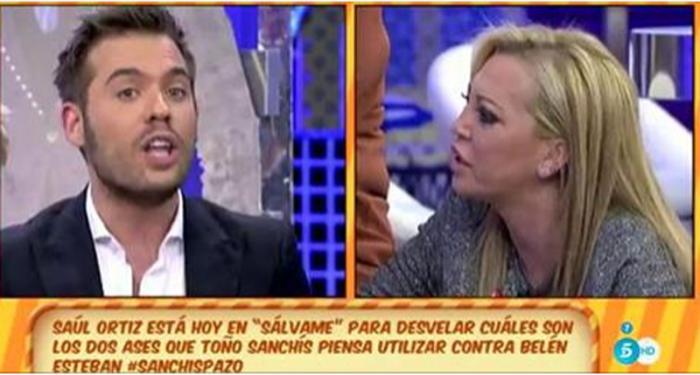Belén Esteban y Saúl Ortiz se enfrentan por Toño Sanchís