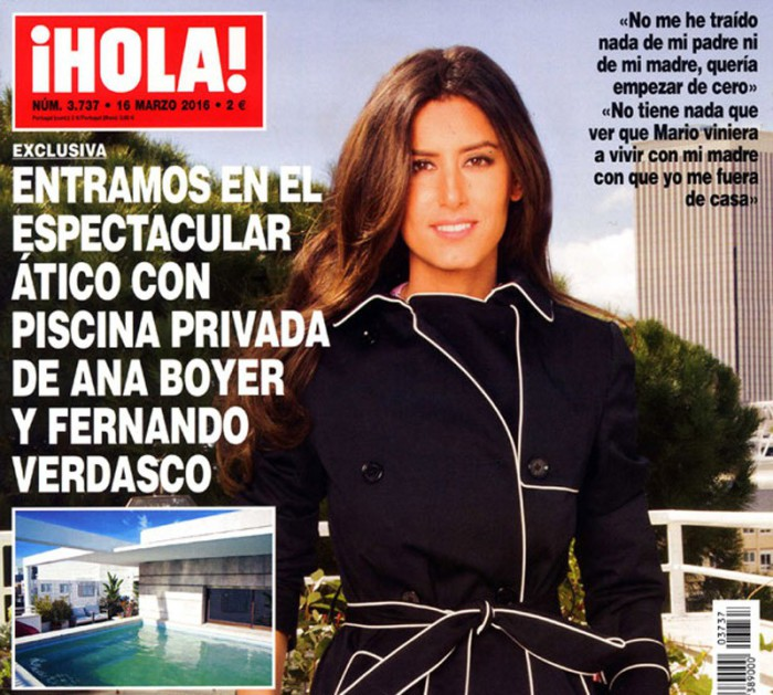 Ana Boyer muestra el espectacular ático en el que vive con Fernando Verdasco en ¡Hola!