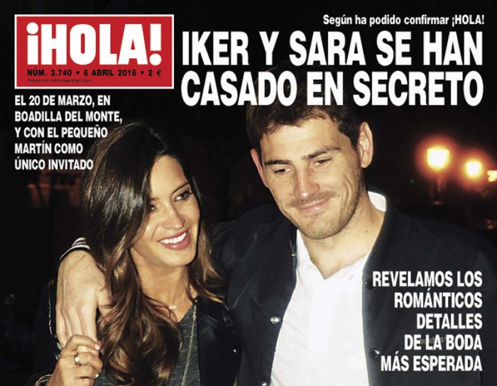 """Iker Casillas y Sara Carbonero se dan el """"sí, quiero"""" en secreto"""
