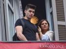 Javier Tudela y su novia, Alejandra, ajenos a los rumores en la Semana Santa de Málaga