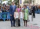 Los Reyes, sus hijas y la Reina emérita acuden a la Misa de Pascua en Palma