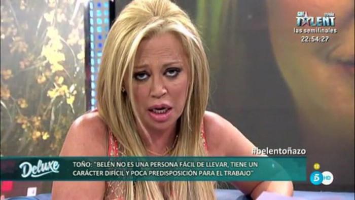 Belén Esteban afirma que Toño Sanchís está enamorado de su dinero