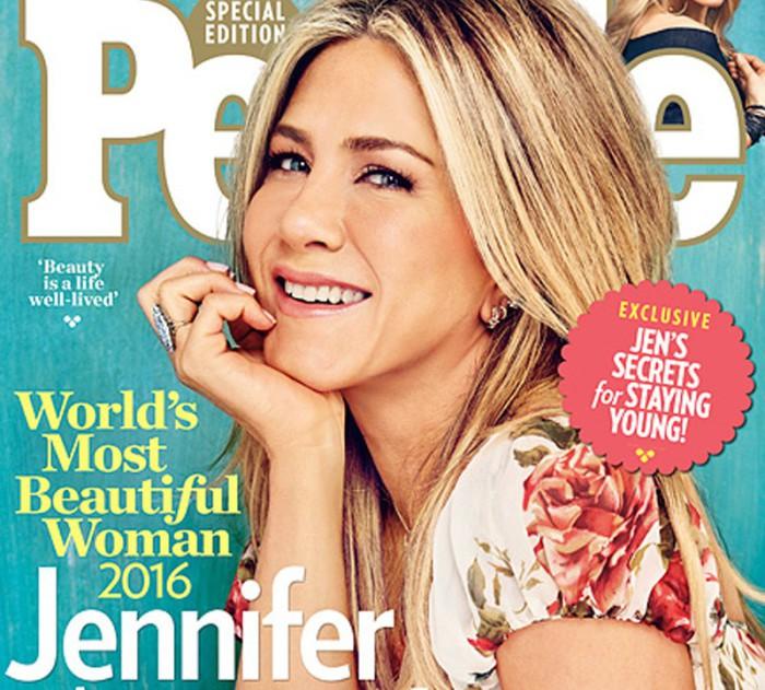 Jennifer Aniston, la mujer más bella de 2016 para People
