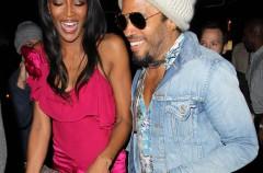 Lenny Kravitz y Naomi Campbell tontean en el 21 cumpleaños de Gigi Hadid