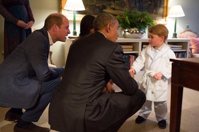 El príncipe George protagonista de la visita de los Obama a Reino Unido