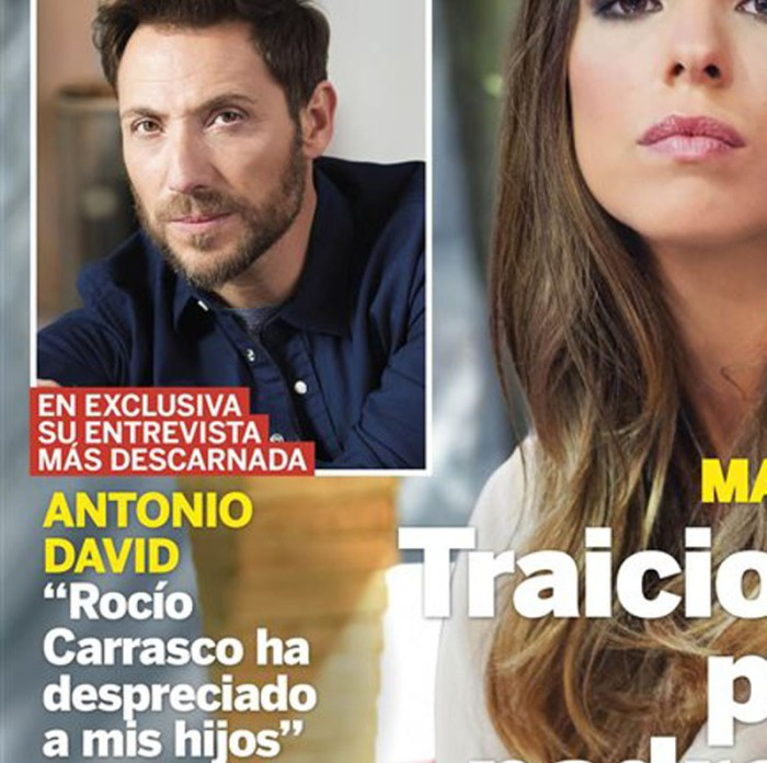 Antonio David comenta la relación de Rocío Carrasco con su hija en Lecturas