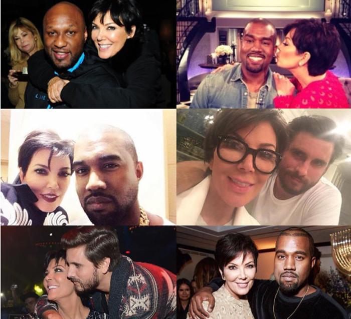 Kris Jenner quiere a Lamar Odom, Scott Disick y Kanye West como si fueran sus hijos