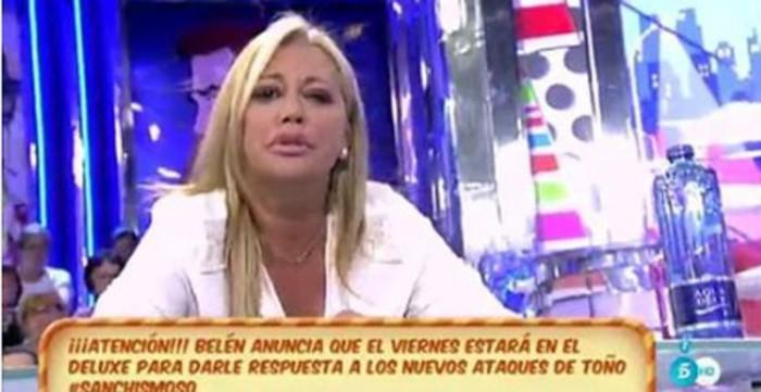 Belén Esteban pide a Toño Sanchís que deje en paz a su novio