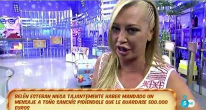Belén Esteban acusa a Toño Sanchís de filtrar la infidelidad de su novio