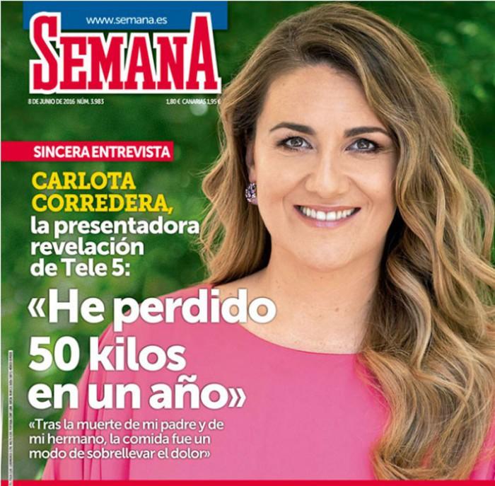 Carlota Corredera cuenta que ha perdido 50 kilos por su hija