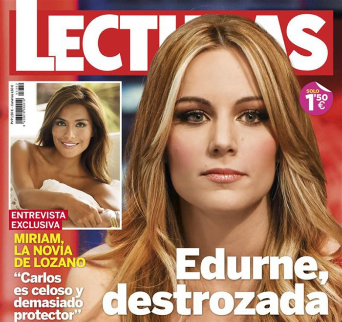 Edurne, portada de Lecturas tras el escándalo que salpica a David de Egea