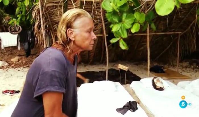Mila Ximénez carga con Suso y Steisy en Supervivientes 2016