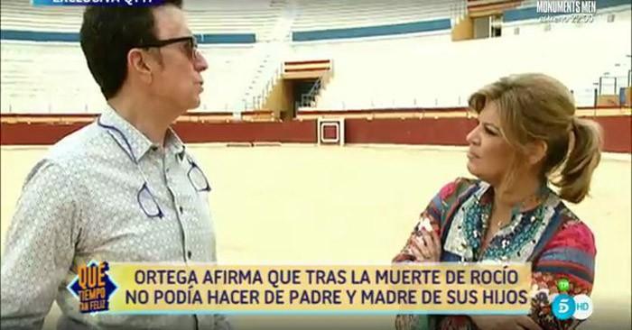 Ortega Cano pide perdón a las Campos por el arrebato de Gloria Camila