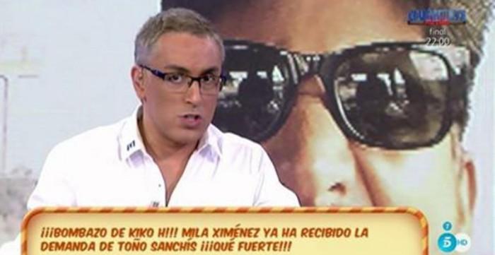 Toño Sanchís interpone una demanda a Mila Ximénez