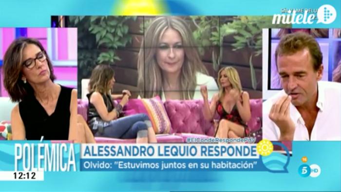 Alessandro Lequio regresa a El programa de verano negando a Olvido Hormigos