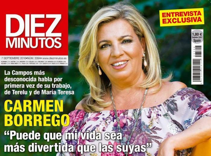 Carmen Borrego, exclusiva en Diez Minutos tras el éxito de Las Campos