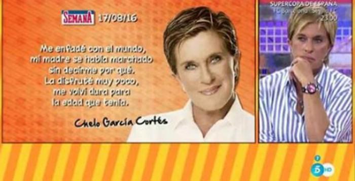 Chelo García Cortés emotiva entrevista en Sálvame tras ser portada de Semana