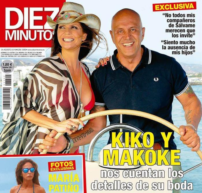 Kiko Matamoros y Makoke, los detalles de su boda en exclusiva para Diez Minutos