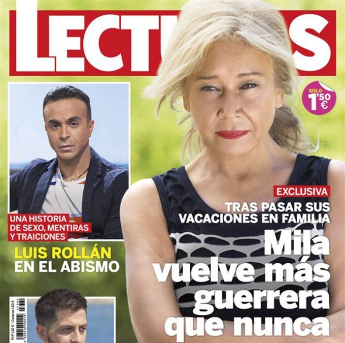 Mila Ximénez regresa a Sálvame diario y ocupa la portada de Lecturas