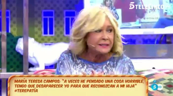 Mila Ximénez no puede con la parte trágica de María Teresa Campos