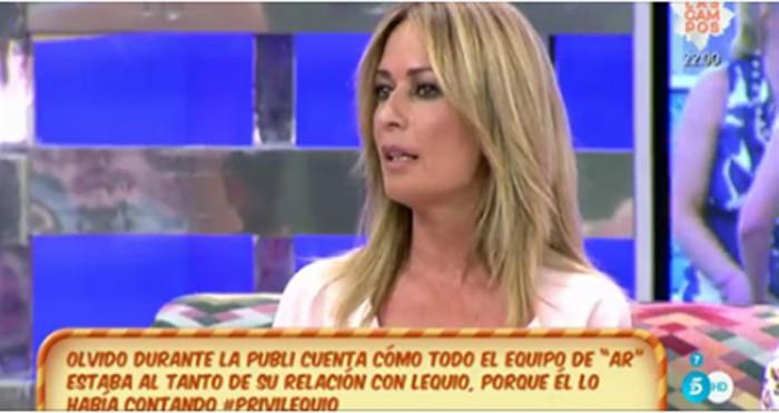 Olvido Hormigos y sus palabras hacia María Palacios tras las cámaras