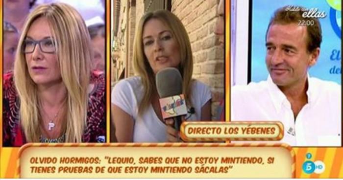 Olvido Hormigos responde a las declaraciones de Alessandro Lequio en El programa del verano