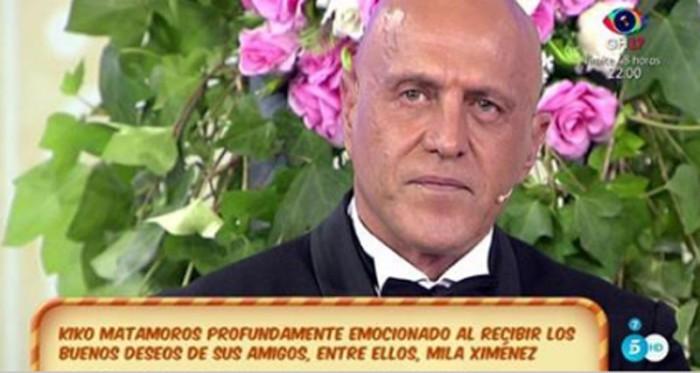 Kiko Matamoros se emociona en el ensayo de su boda en Sálvame
