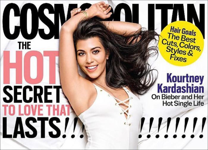 Kourtney Kardashian repasa la actualidad de su familia posando en bañador para Cosmopolitan