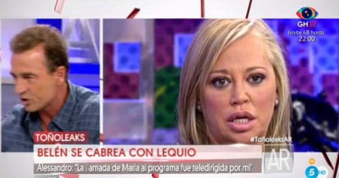 Alessandro Lequio opina sobre la generosidad de Belén Esteban con su familia