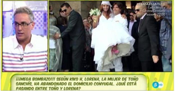 La esposa de Toño Sanchís habría abandonado el domicilio conyugal