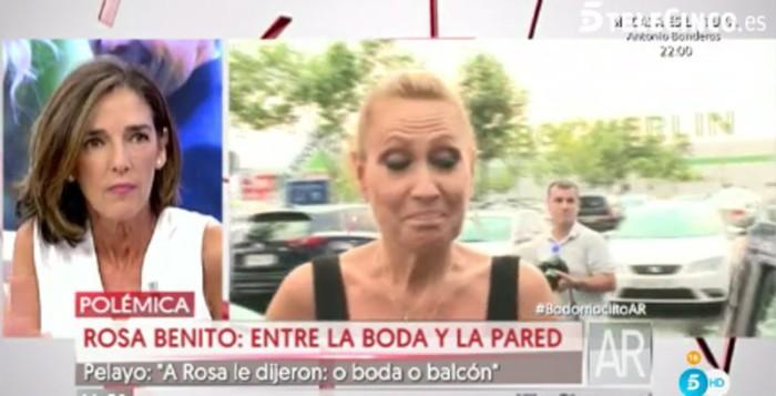 """A Rosa Benito se le """"prohibió"""" ir a la boda de Rocío Carrasco"""
