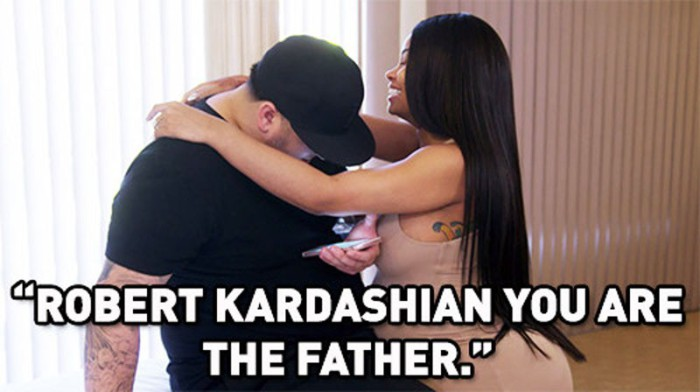 Blac Chyna prueba con un test que Rob Kardashian es el padre de su hija